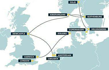 DFDS Seaways Ferry Route Map