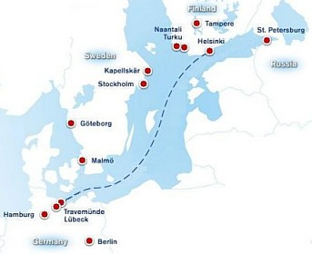 Finnlines Route Map