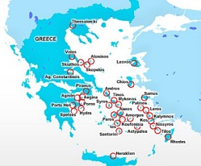 Hellenic Seaways Route Map